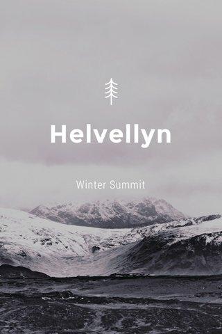 Helvellyn Winter Summit