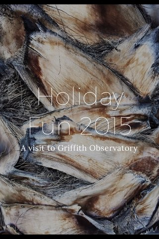 Holiday Fun 2015 A visit to Griffith Observatory