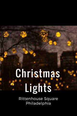 Christmas Lights Rittenhouse Square Philadelphia