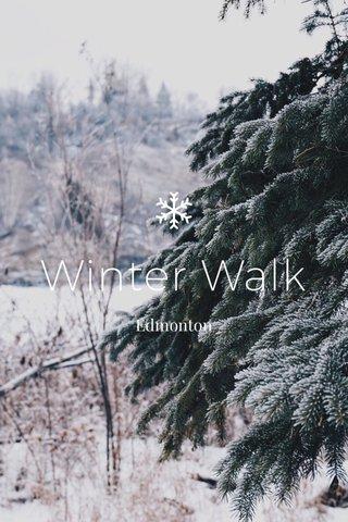 Winter Walk Edmonton