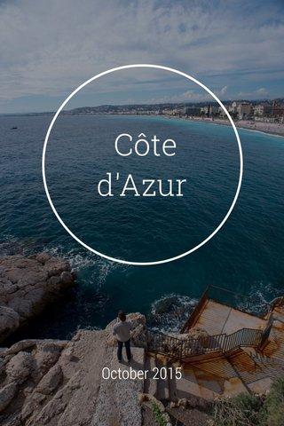 Côte d'Azur October 2015