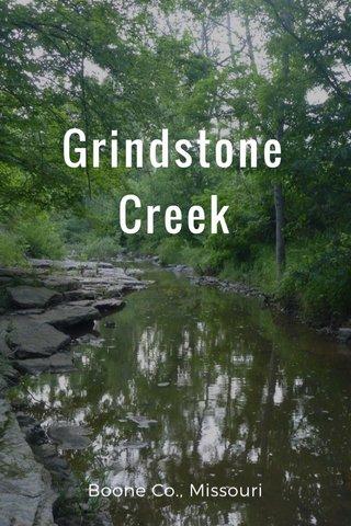 Grindstone Creek Boone Co., Missouri