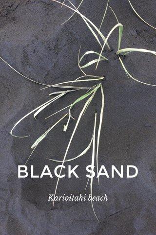 BLACK SAND Karioitahi beach