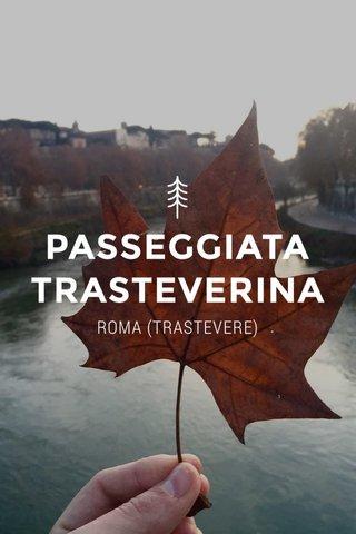 PASSEGGIATA TRASTEVERINA ROMA (TRASTEVERE)