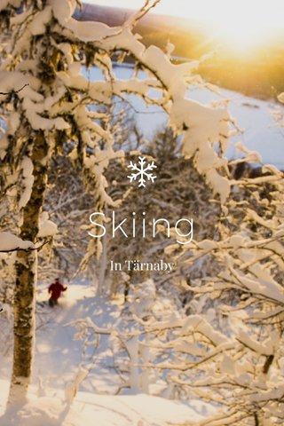 Skiing In Tärnaby