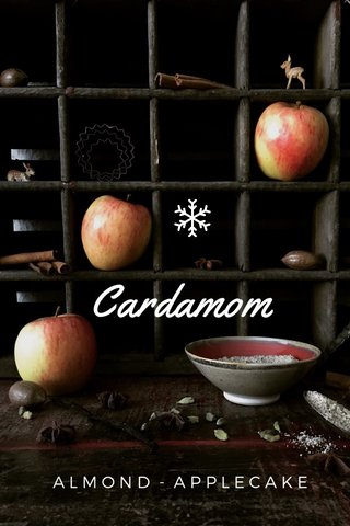 Cardamom ALMOND - APPLECAKE