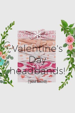 Valentine's Day headbands! || just listed||