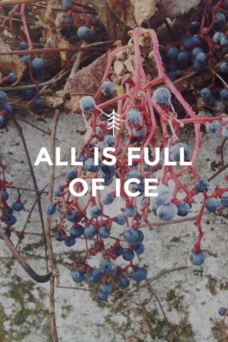 ALL IS FULL OF ICE