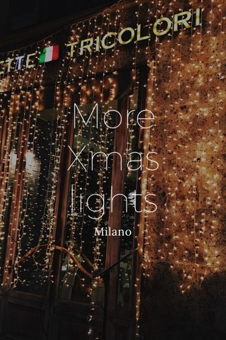 More Xmas lights Milano