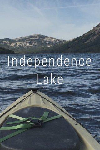 Independence Lake