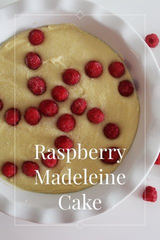 Raspberry Madeleine Cake