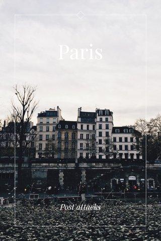 Paris Post attacks