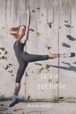 la vie est belle #steller2015
