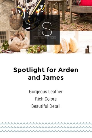 Spotlight for Arden and James Handcrafted Leather Bags