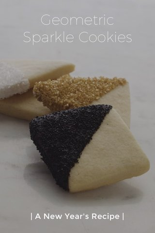 Geometric Sparkle Cookies | A New Year's Recipe |