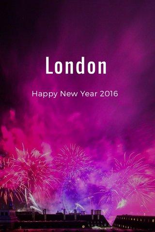 London Happy New Year 2016