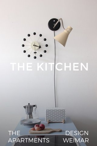 THE KITCHEN THE DESIGN APARTMENTS WEIMAR