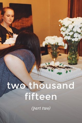 two thousand fifteen (part two)