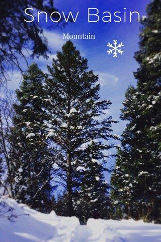 Snow Basin Mountain