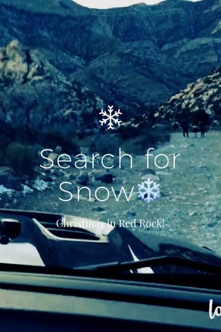 Search for Snow❄️ Christmas in Red Rock!