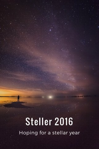 Steller 2016 Hoping for a stellar year