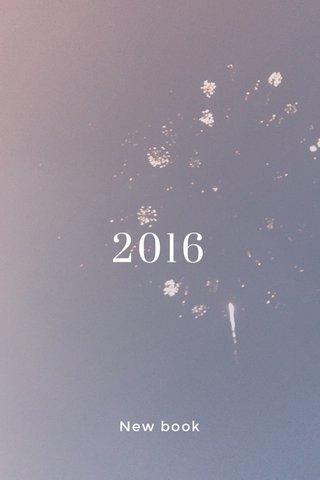 2016 New book