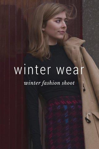 winter wear winter fashion shoot