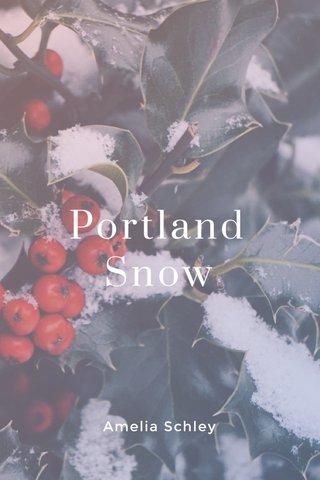 Portland Snow Amelia Schley