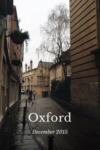 Oxford December 2015