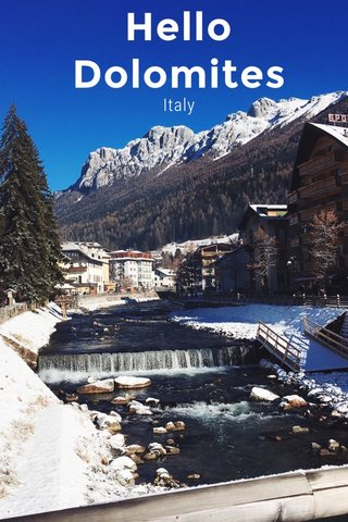 Hello Dolomites Italy