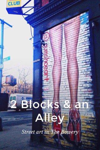 2 Blocks & an Alley Street art in The Bowery