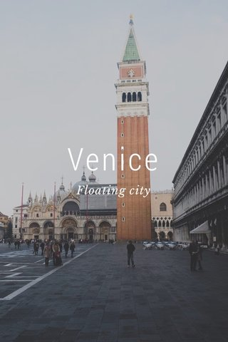 Venice Floating city