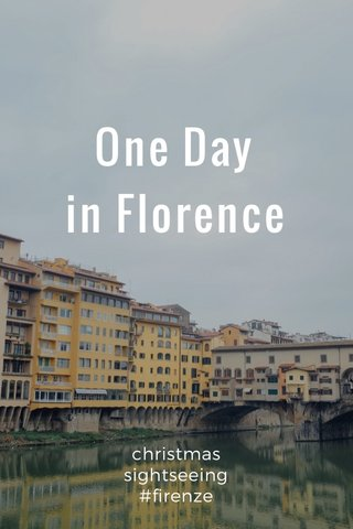 One Day in Florence christmas sightseeing #firenze
