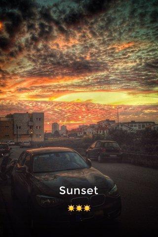 Sunset ☀️☀️☀️