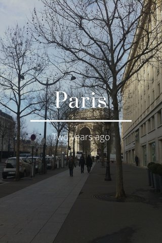 Paris Two years ago