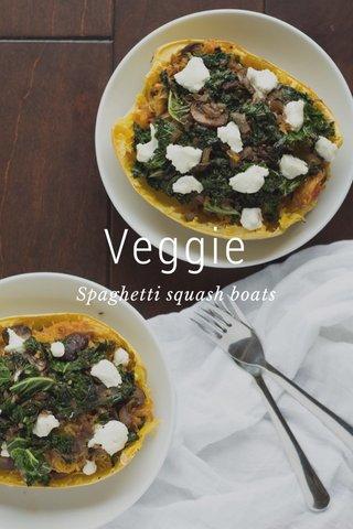 Veggie Spaghetti squash boats
