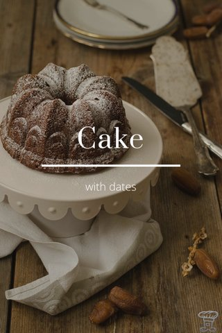 Cake with dates