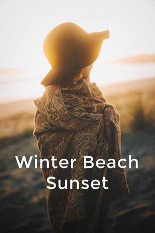 Winter Beach Sunset