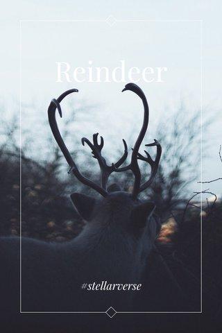 Reindeer #stellarverse