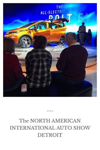 The NORTH AMERICAN INTERNATIONAL AUTO SHOW DETROIT