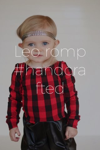 Leo romp #handcrafted