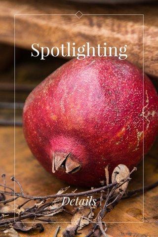 Spotlighting Details
