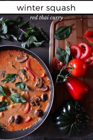 winter squash red thai curry