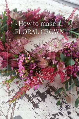 How to make a FLORAL CROWN /Diy/