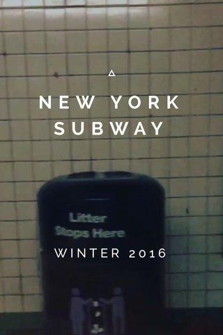 NEW YORK SUBWAY WINTER 2016