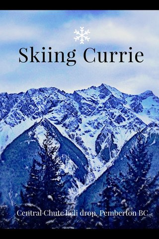 Skiing Currie Central Chute heli drop, Pemberton BC