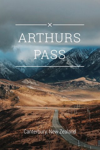 ARTHURS PASS Canterbury, New Zealand