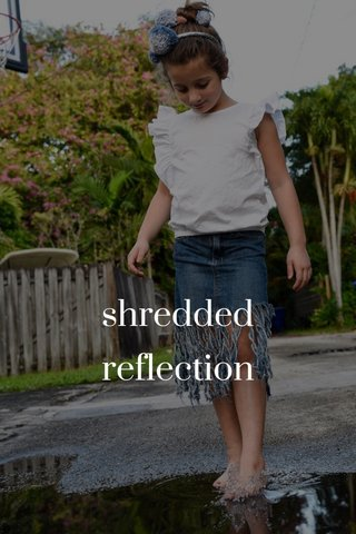 shredded reflection