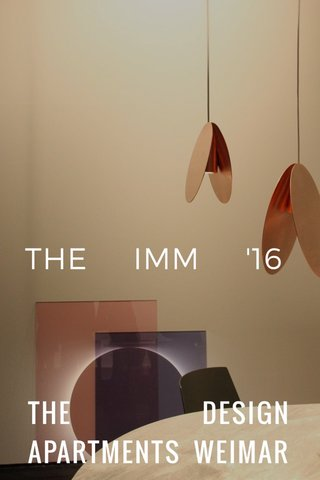 THE DESIGN APARTMENTS WEIMAR THE IMM '16