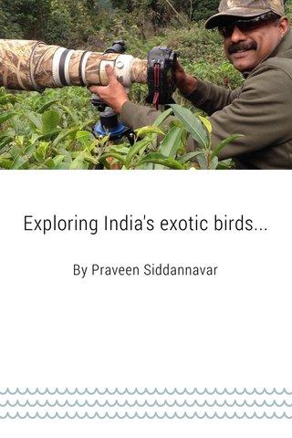 Exploring India's exotic birds...